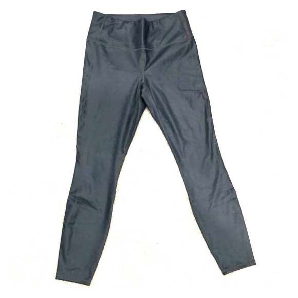 Athleta metallic grey leggings